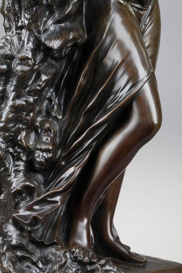 19th Century Bronze Statue: Bacchante For Sale 9