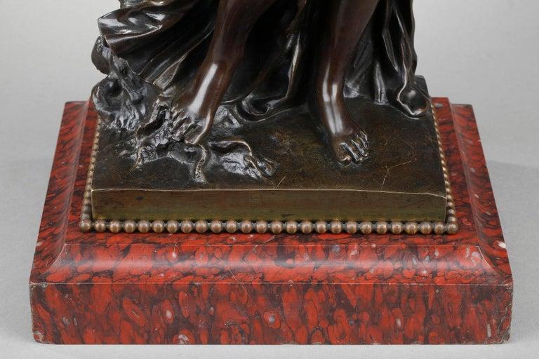 19th Century Bronze Statue: Bacchante For Sale 10