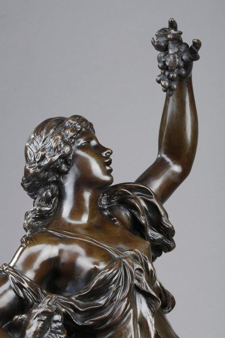 19th Century Bronze Statue: Bacchante For Sale 13