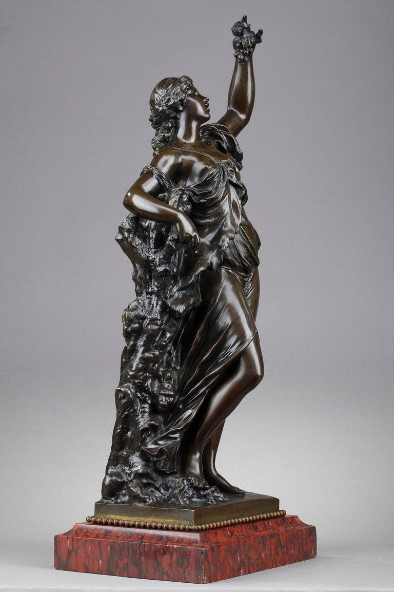 Napoleon III 19th Century Bronze Statue: Bacchante For Sale
