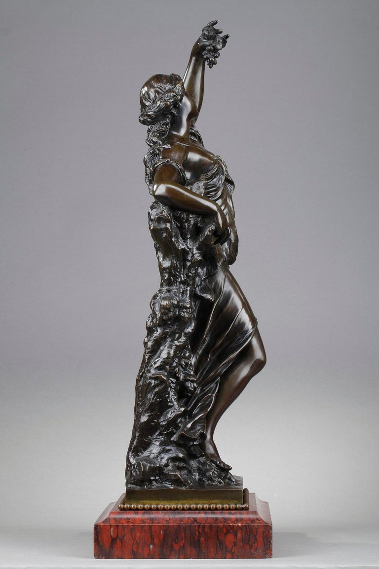 French 19th Century Bronze Statue: Bacchante For Sale