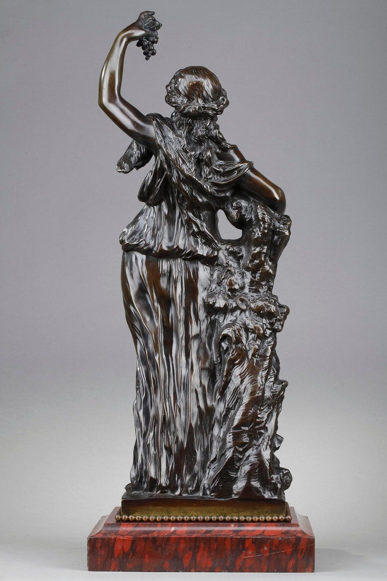 Patinated 19th Century Bronze Statue: Bacchante For Sale
