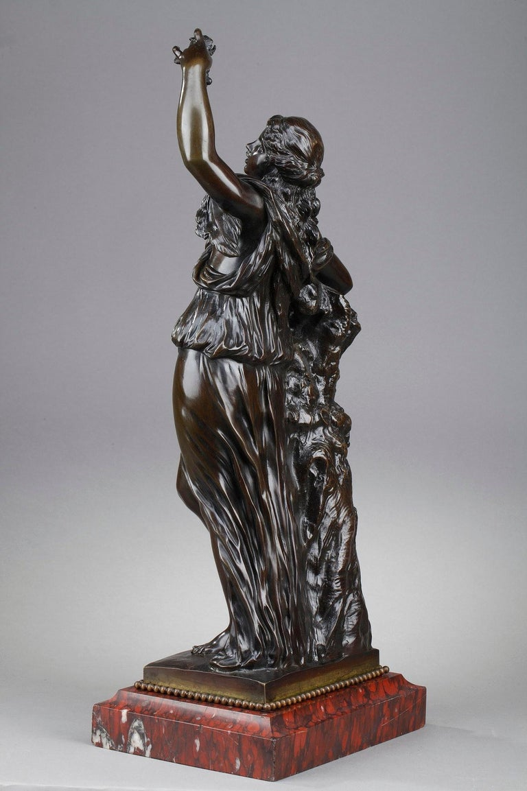 19th Century Bronze Statue: Bacchante In Good Condition For Sale In Paris, FR