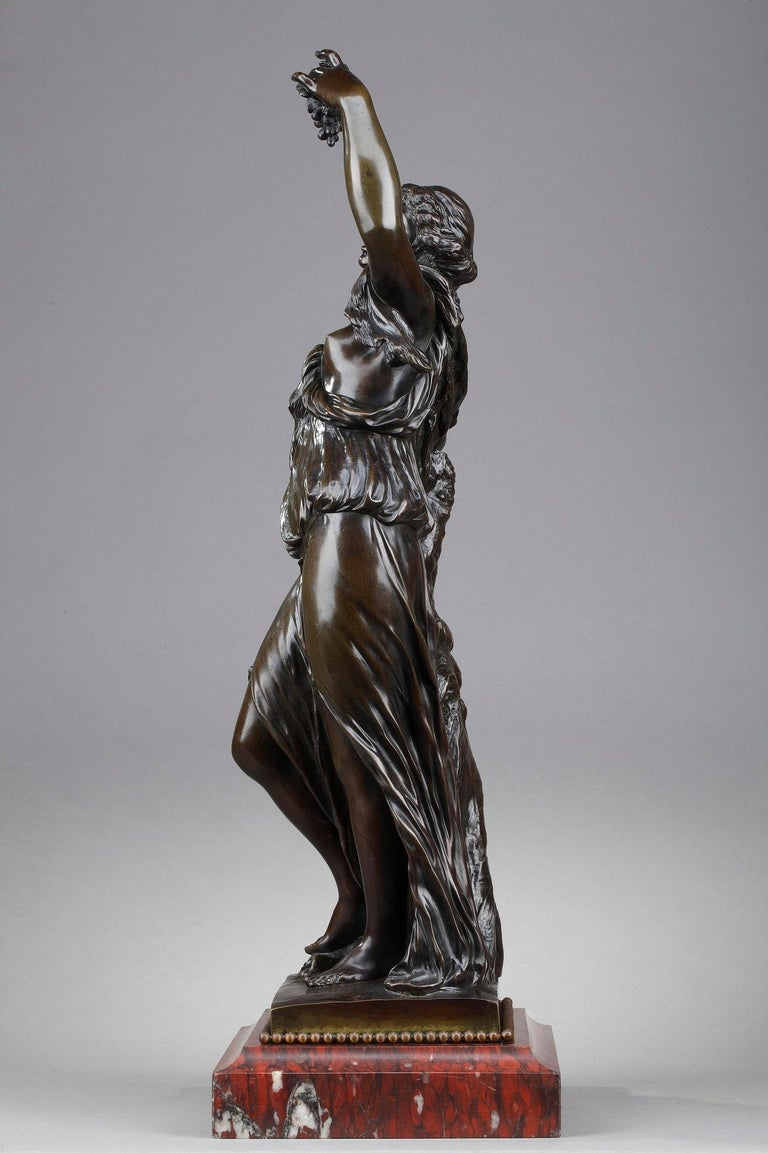 19th Century Bronze Statue: Bacchante For Sale 1
