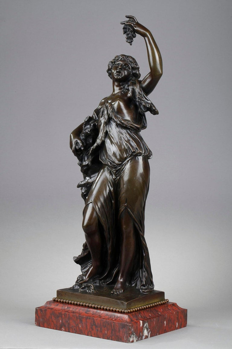 19th Century Bronze Statue: Bacchante For Sale 2