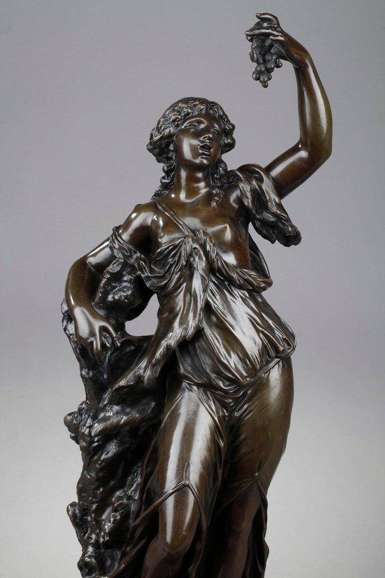 19th Century Bronze Statue: Bacchante For Sale 3