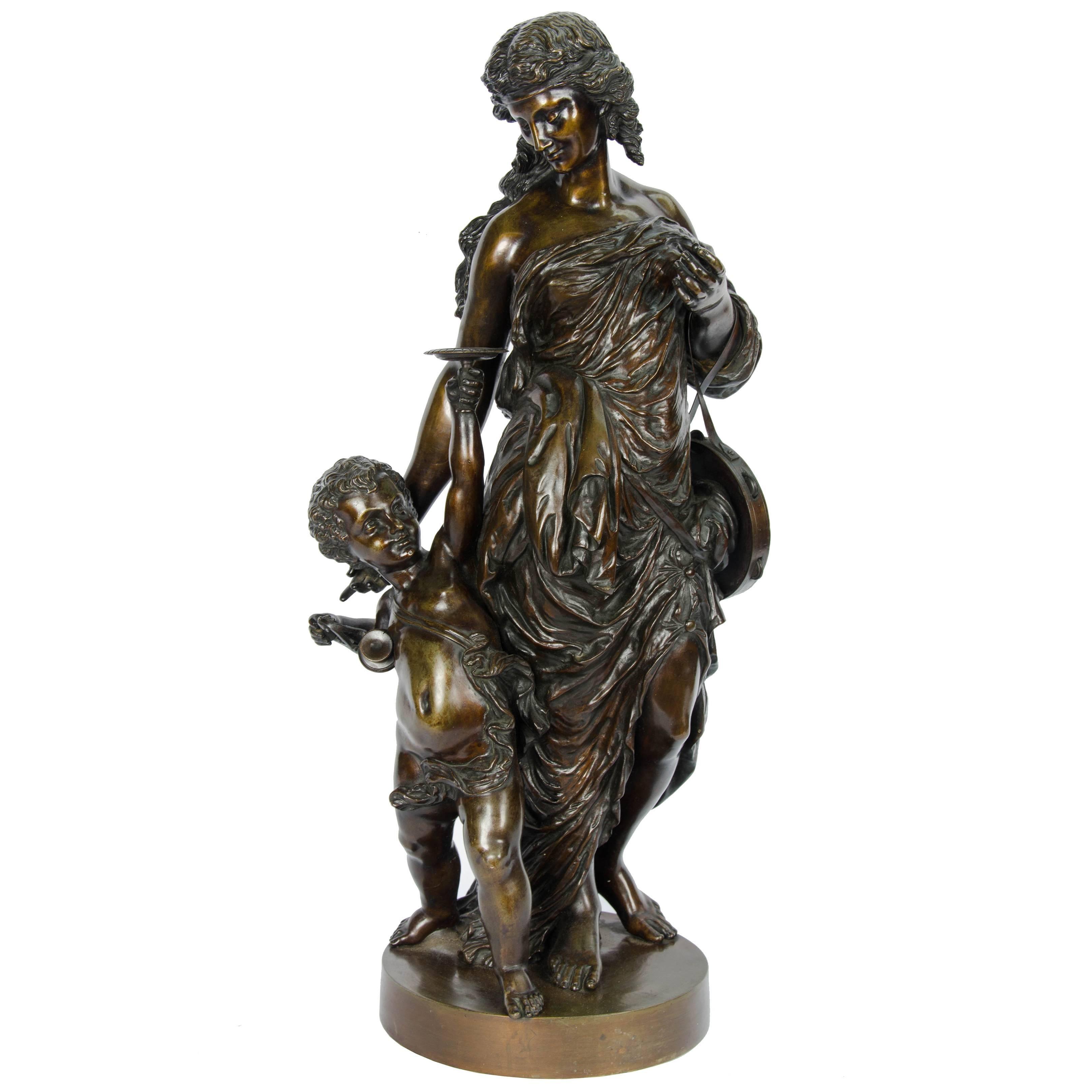 Large classical 19th Century Bronze Statue