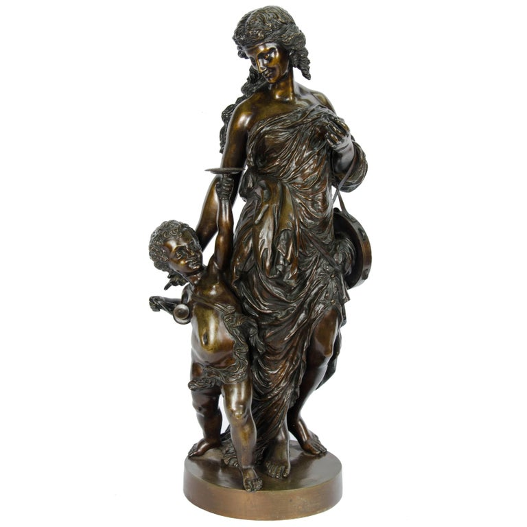 Large classical 19th Century Bronze Statue For Sale