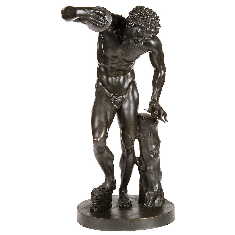 19th Century Bronze Statue of a Classical Greek Faun Dancing