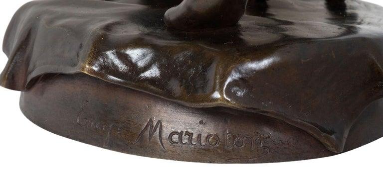 19th Century Bronze Statue of Esmeralda, by Marioton For Sale 8