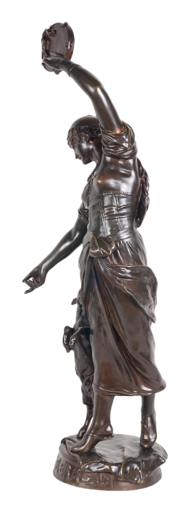 French 19th Century Bronze Statue of Esmeralda, by Marioton For Sale