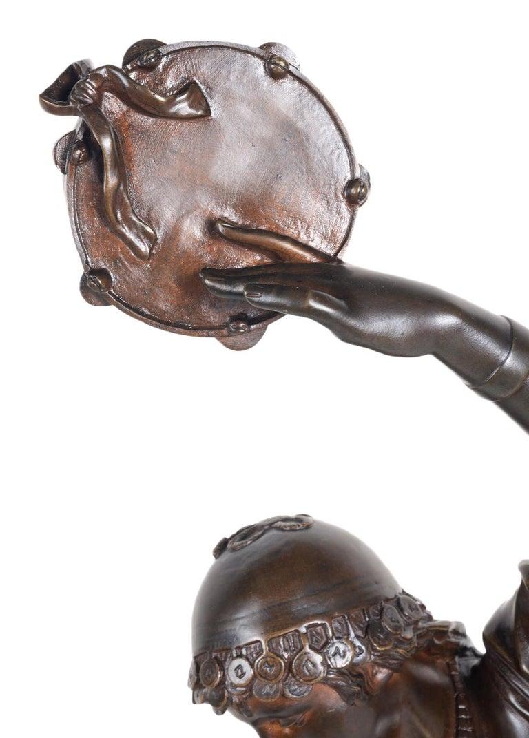 19th Century Bronze Statue of Esmeralda, by Marioton In Good Condition For Sale In Brighton, Sussex