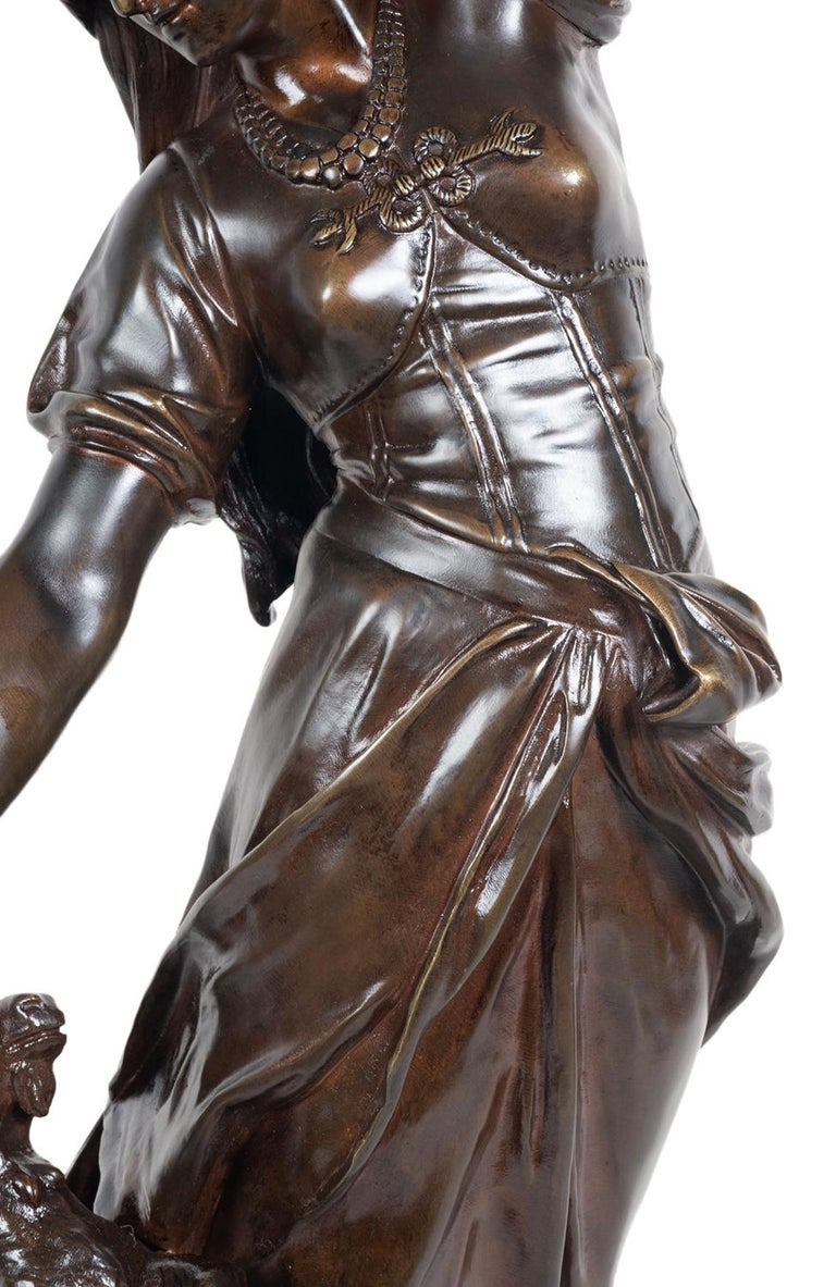 19th Century Bronze Statue of Esmeralda, by Marioton For Sale 1