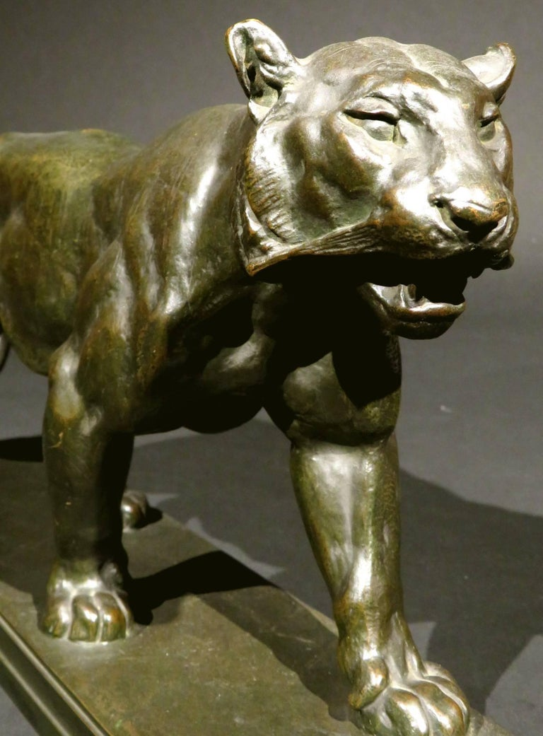 19th Century Bronze Striding Tiger (Tigre qui Marche) by Antoine Louis Barye In Good Condition For Sale In Ottawa, Ontario