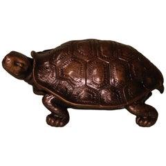 19th Century Bronze Tortoise Inkwell