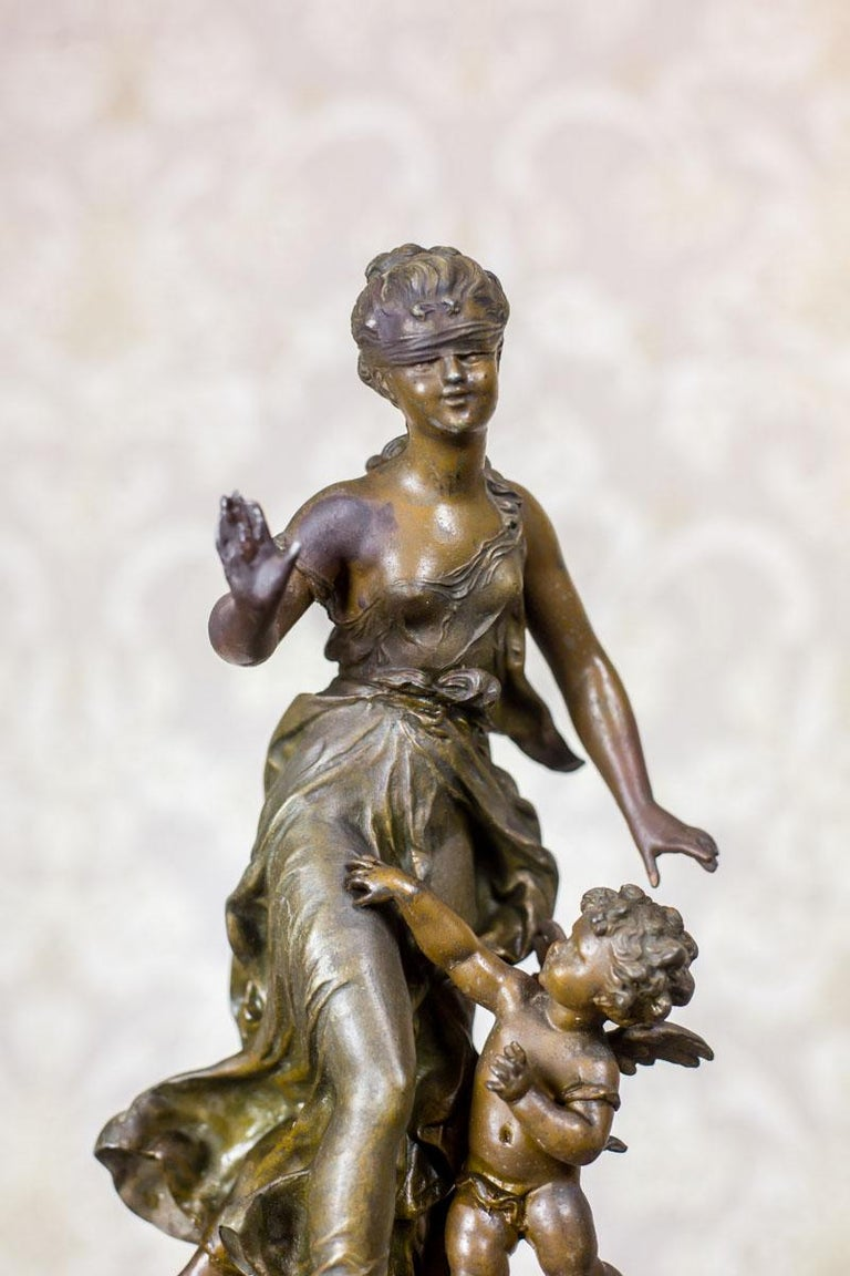 French 19th Century Bronzed Zamak Figurine For Sale