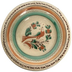 19th Century Brown and Mint Creamware Terracotta Baroque Plate