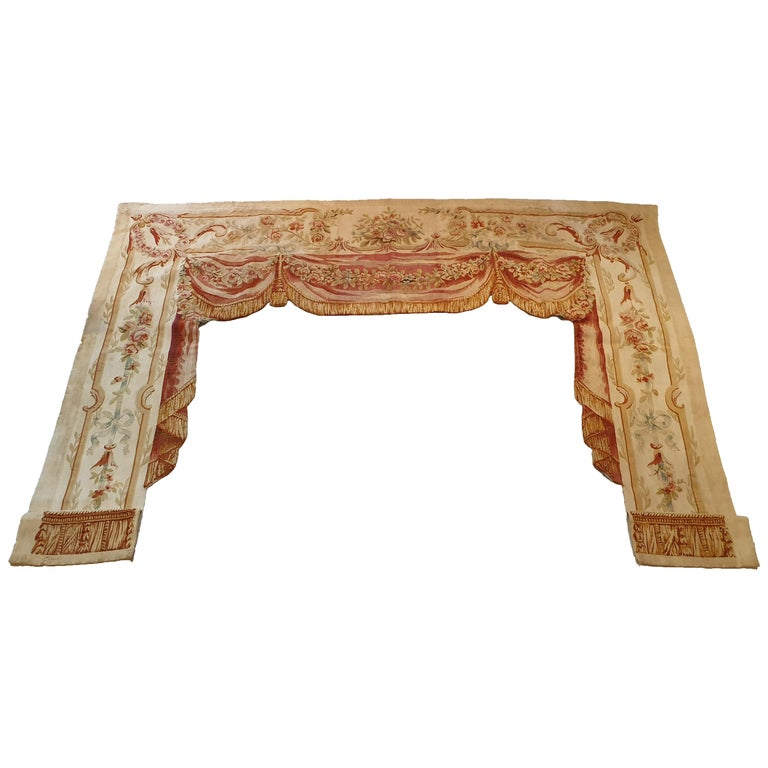 """706 -  19th Century Brussels Handwoven Tapestry """"Conteniere"""" For Sale"""