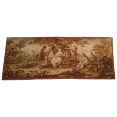 "704 - 19th Century Brussels Handwoven Tapestry ""The Lion Is The King"""