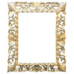 19th century Brustolon Italy Frame-Mirror  Carved Gilded with Gold Leaves, 1800