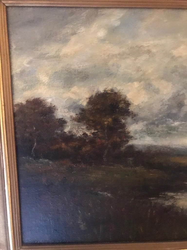 Hand-Painted 19th Century Bucolic Landscape Signed A. H. Wyant For Sale