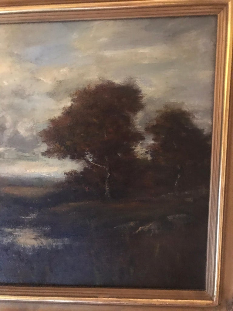 19th Century Bucolic Landscape Signed A. H. Wyant In Good Condition For Sale In Lambertville, NJ