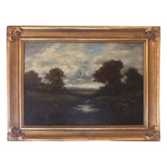 19th Century Bucolic Landscape Signed A. H. Wyant