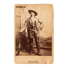 19th Century Buffalo Wild Bill Cody Cabinet Collectors Card