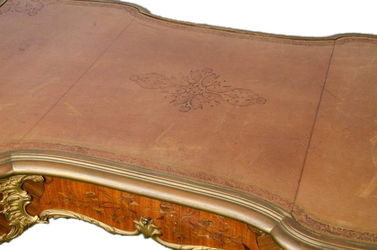 19th Century, Bureau Plat, by Francoise Linke. In Good Condition For Sale In Brighton, Sussex