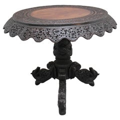 19th Century Burmese Carved Centre Table