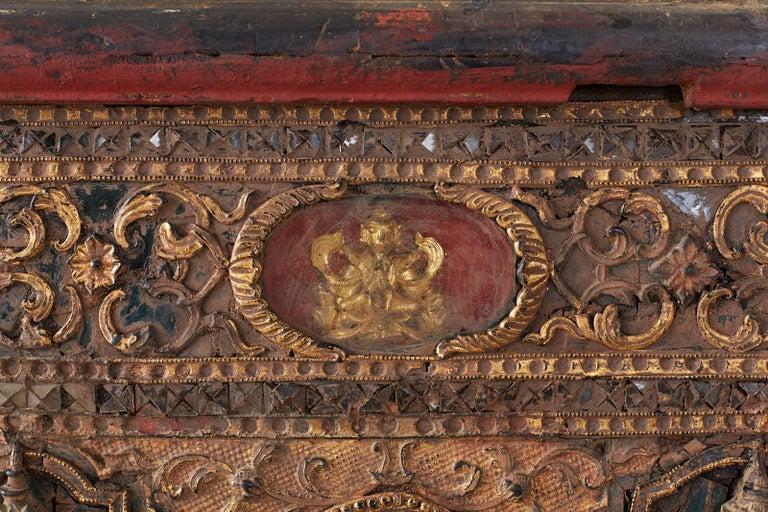 19th Century Burmese Mandalay Gilt Chest or Trunk For Sale 5