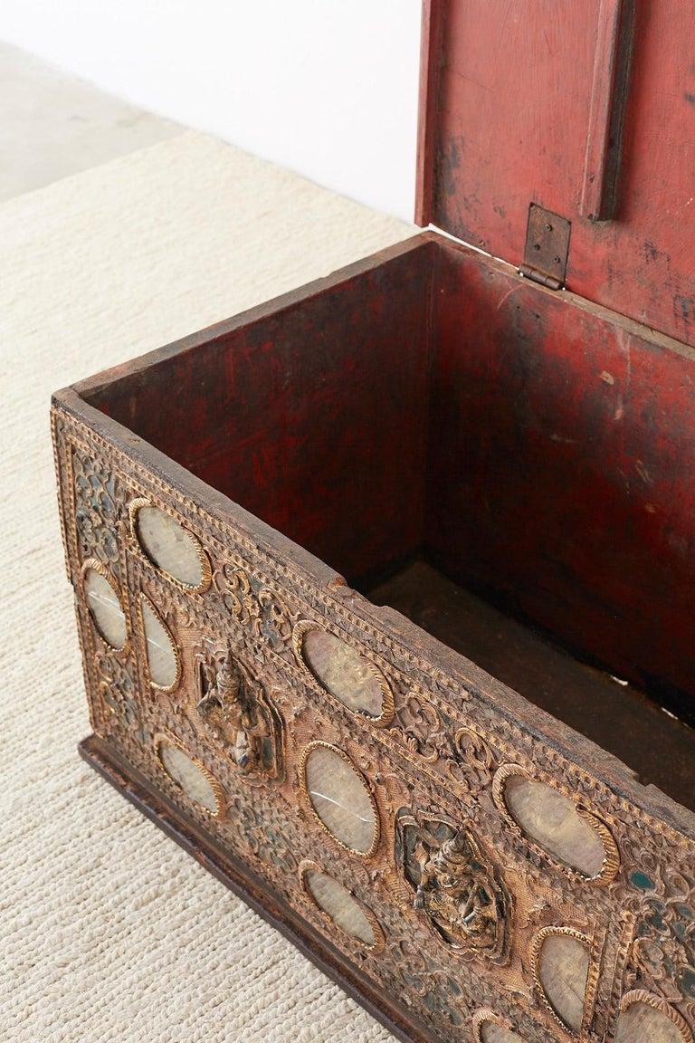 19th Century Burmese Mandalay Gilt Chest or Trunk For Sale 8