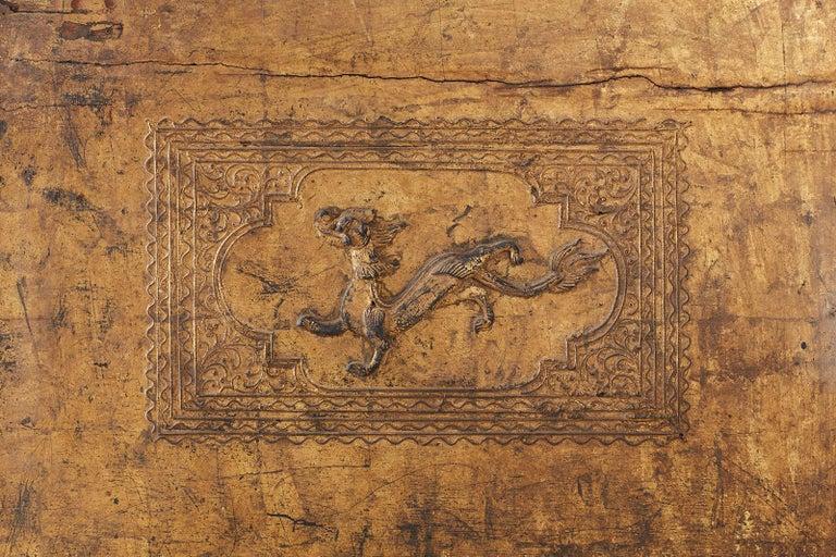 19th Century Burmese Mandalay Gilt Chest or Trunk For Sale 11