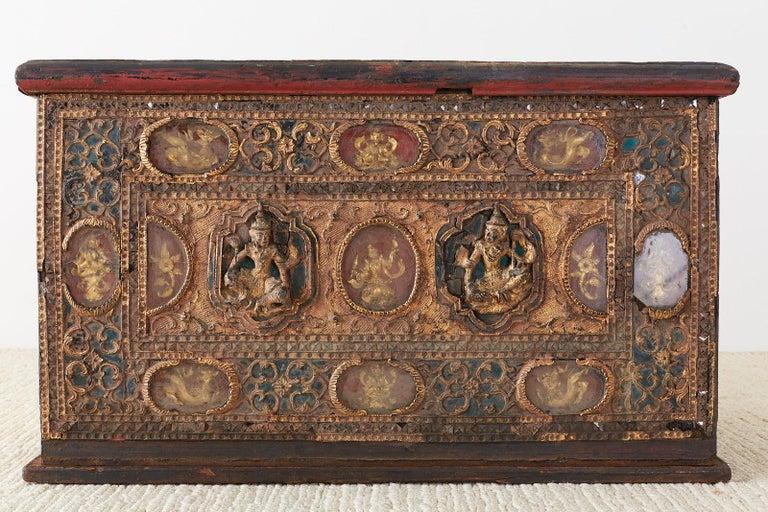 19th Century Burmese Mandalay Gilt Chest or Trunk For Sale 1