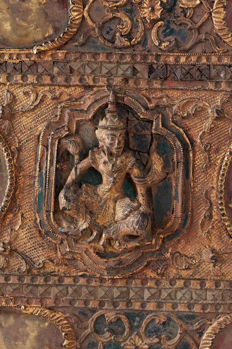 19th Century Burmese Mandalay Gilt Chest or Trunk For Sale 2