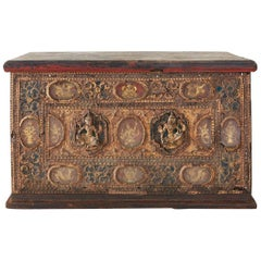19th Century Burmese Mandalay Gilt Chest or Trunk