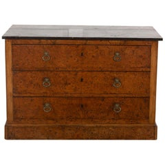 19th Century Burr Ash Commode