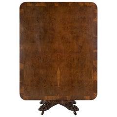 19th Century Burr Oak Table