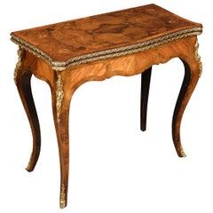 19th Century Burr Walnut and Kingwood Card Table