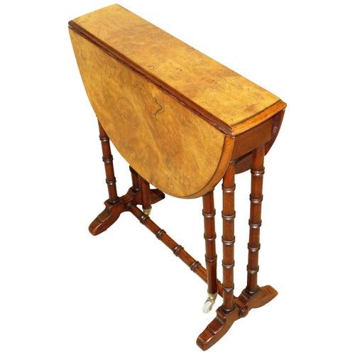 19th Century Burr Walnut Baby Sutherland Coffee Table