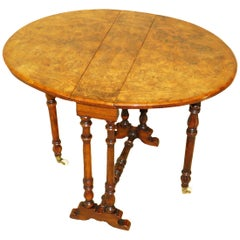 19th Century Burr Walnut Baby Sutherland Coffee Table