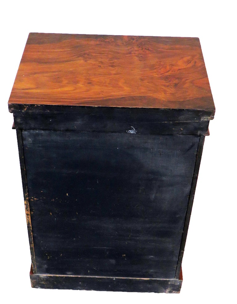 19th Century Burr Walnut Childs Size Wellington Chest In Good Condition For Sale In Bedfordshire, GB