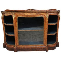 19th Century Burr Walnut Credenza