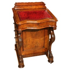 19th Century Burr Walnut Davenport Desk
