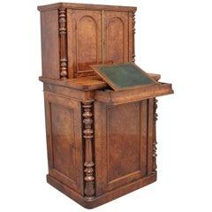 19th Century Burr Walnut Desk