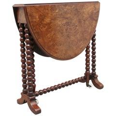 19th Century Burr Walnut Sutherland Table