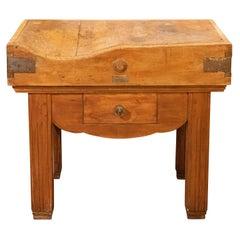 19th Century Butcher Block Table