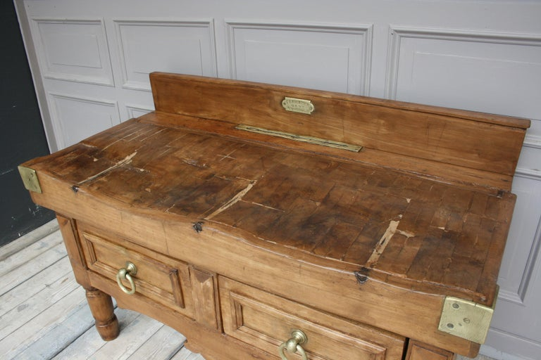 19th Century Butcher Block Table from Belgium For Sale 6