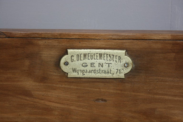 19th Century Butcher Block Table from Belgium For Sale 8