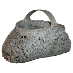 19th Century Buttocks Basket from New England
